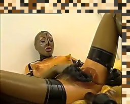 latex catsuit masturbation